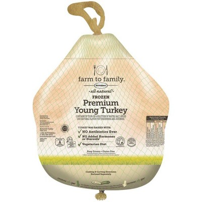 Butterball Farm To Family No Antibiotics Ever Turkey - Frozen - 16-24 lbs - price per lb