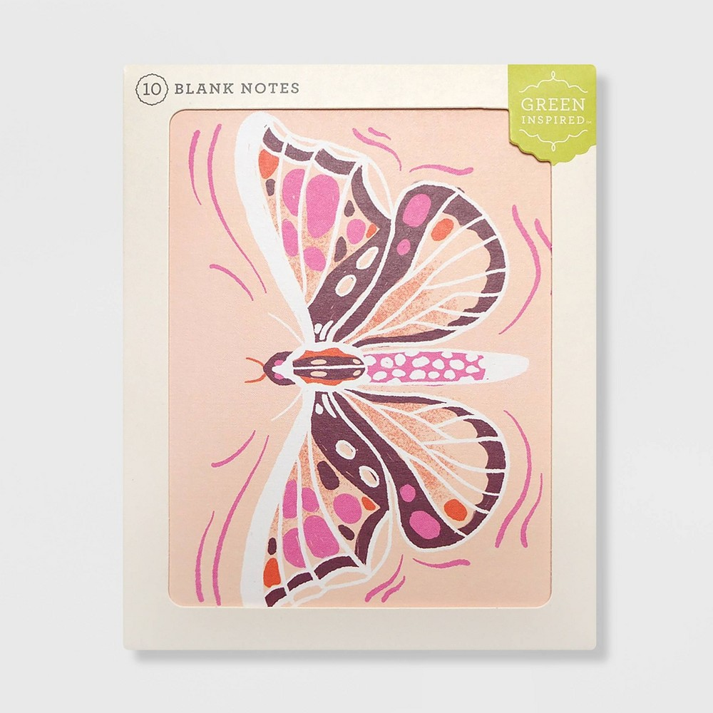 Image of 10ct Purple Moth Blank Notes
