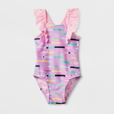 Baby Girls' Ruffle Strap One Piece Swimsuit - Cat & Jack™ Purple 9M