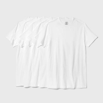 Men's Short Sleeve 4+1 Bonus Pack Crew-Neck T-Shirt - Goodfellow & Co™ White