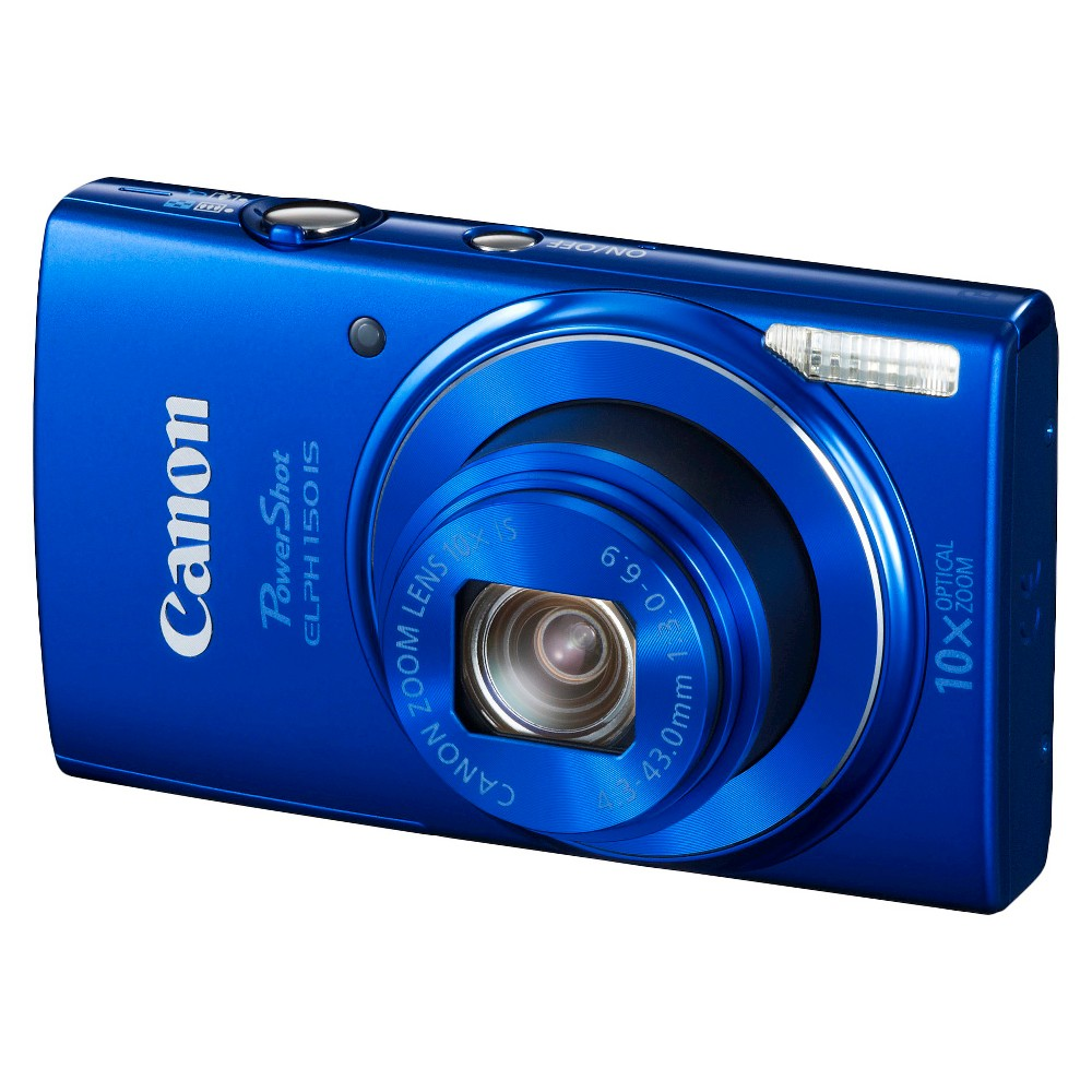 Canon PowerShot Elph 150 IS 20MP Digital Camera with 10X Optical Zoom - Blue
