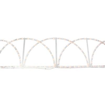 "J. Hofert Co 90"" White Pathway Fence Christmas Lights Outdoor Decor"
