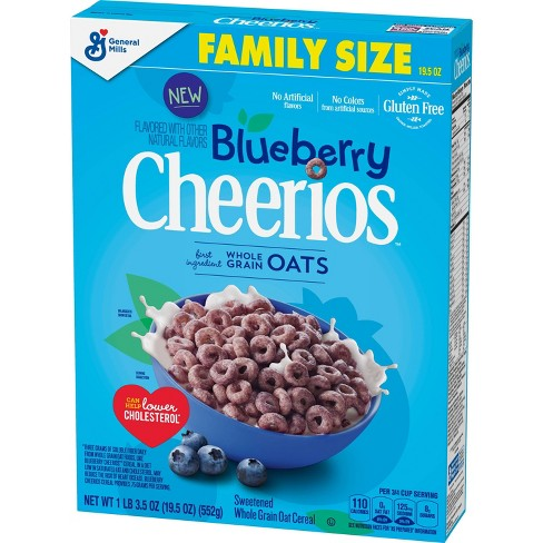 Blueberry Cheerios XL Breakfast Cereal - 19.5oz - General Mills - image 1 of 3