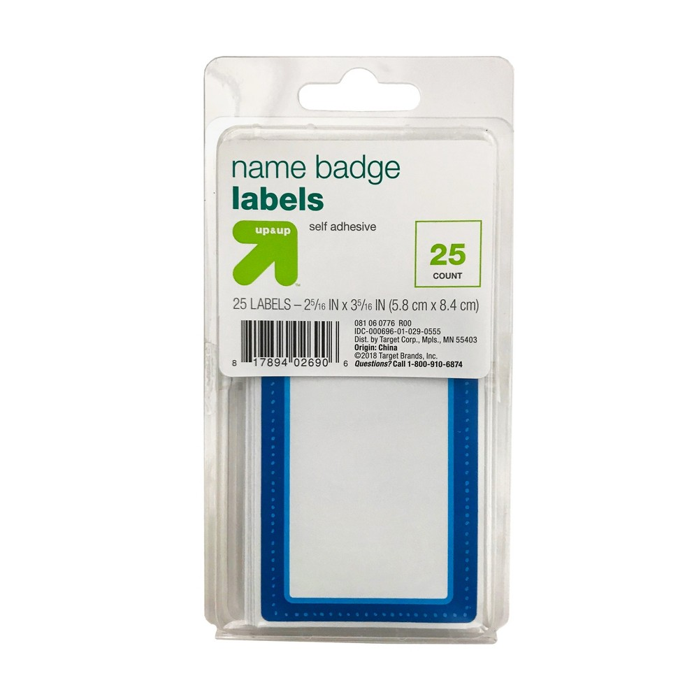 Name Tags 25ct - Up&Up, White