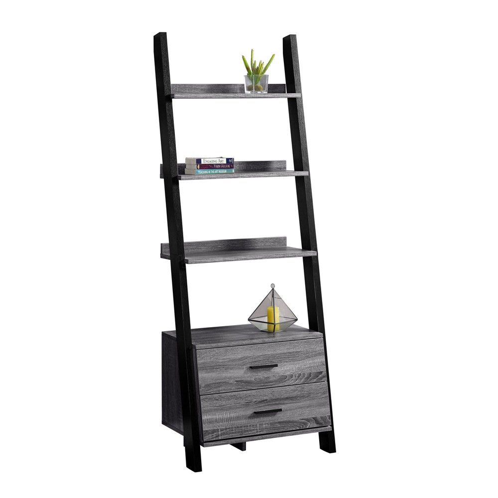 Low Price 69 Bookcase Ladder Gray EveryRoom