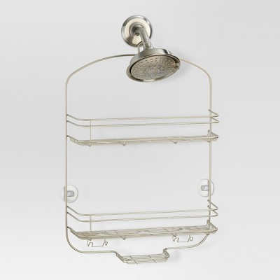 Bathroom Shower Caddy Pearl Satin Silver - Threshold™