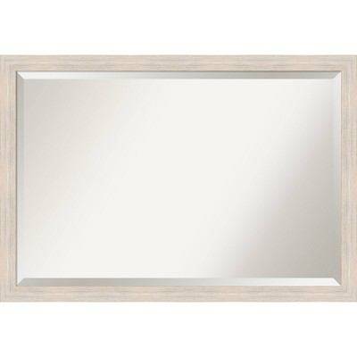 Hardwood Narrow Framed Bathroom Vanity Wall Mirror - Amanti Art