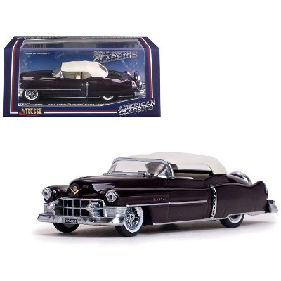 1953 Cadillac Closed Convertible Maroon 1/43 Diecast Model Car by Vitesse