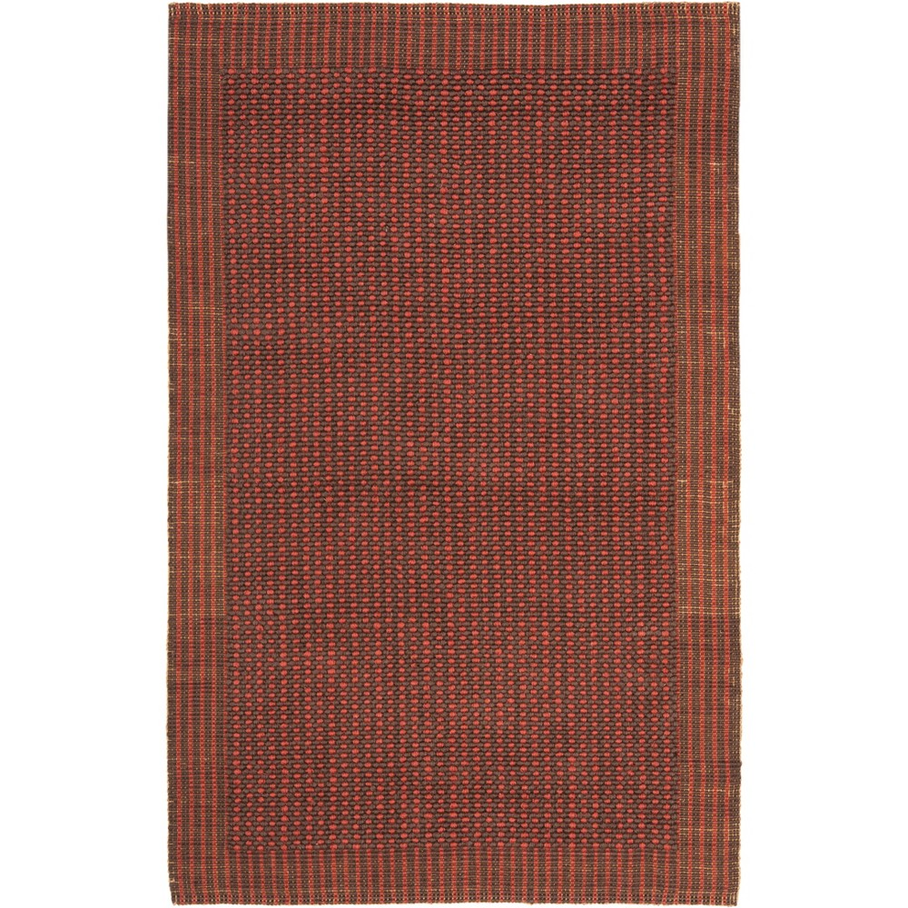4'X6' Solid Woven Area Rug Brown/Rust (Brown/Red) - Safavieh