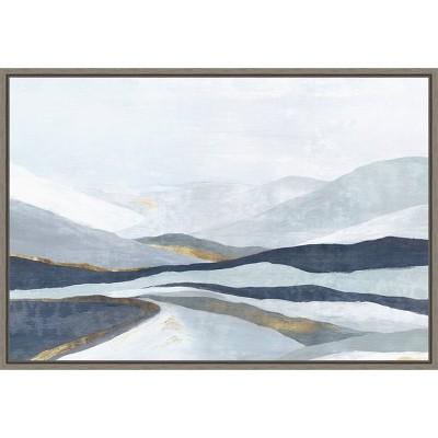 "23"" x 16"" Far Away Land I by Eva Watts Framed Canvas Wall Art - Amanti Art"