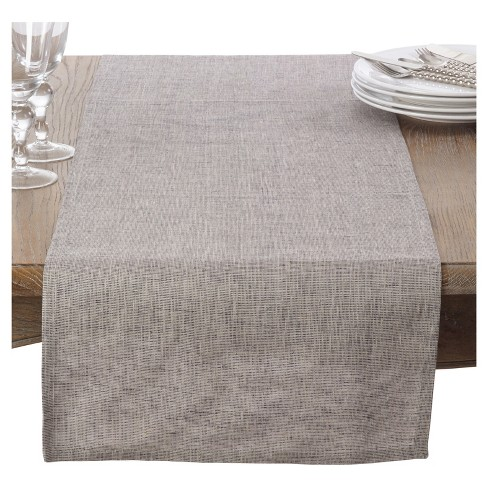"Light Brown Heavy Denier Linen Table Runner (16""x72"") - Saro Lifestyle® - image 1 of 2"