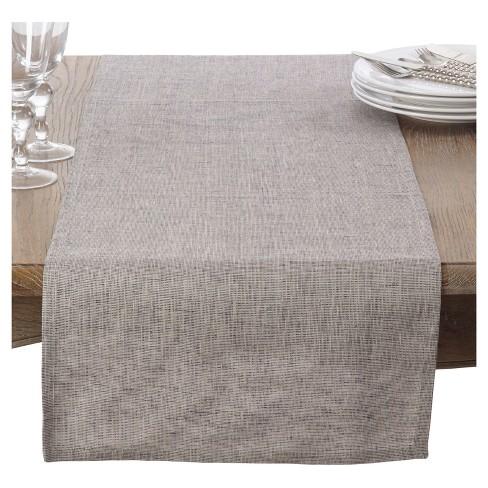Light Brown Heavy Denier Linen Table Runner 16 X72 Saro Lifestyle