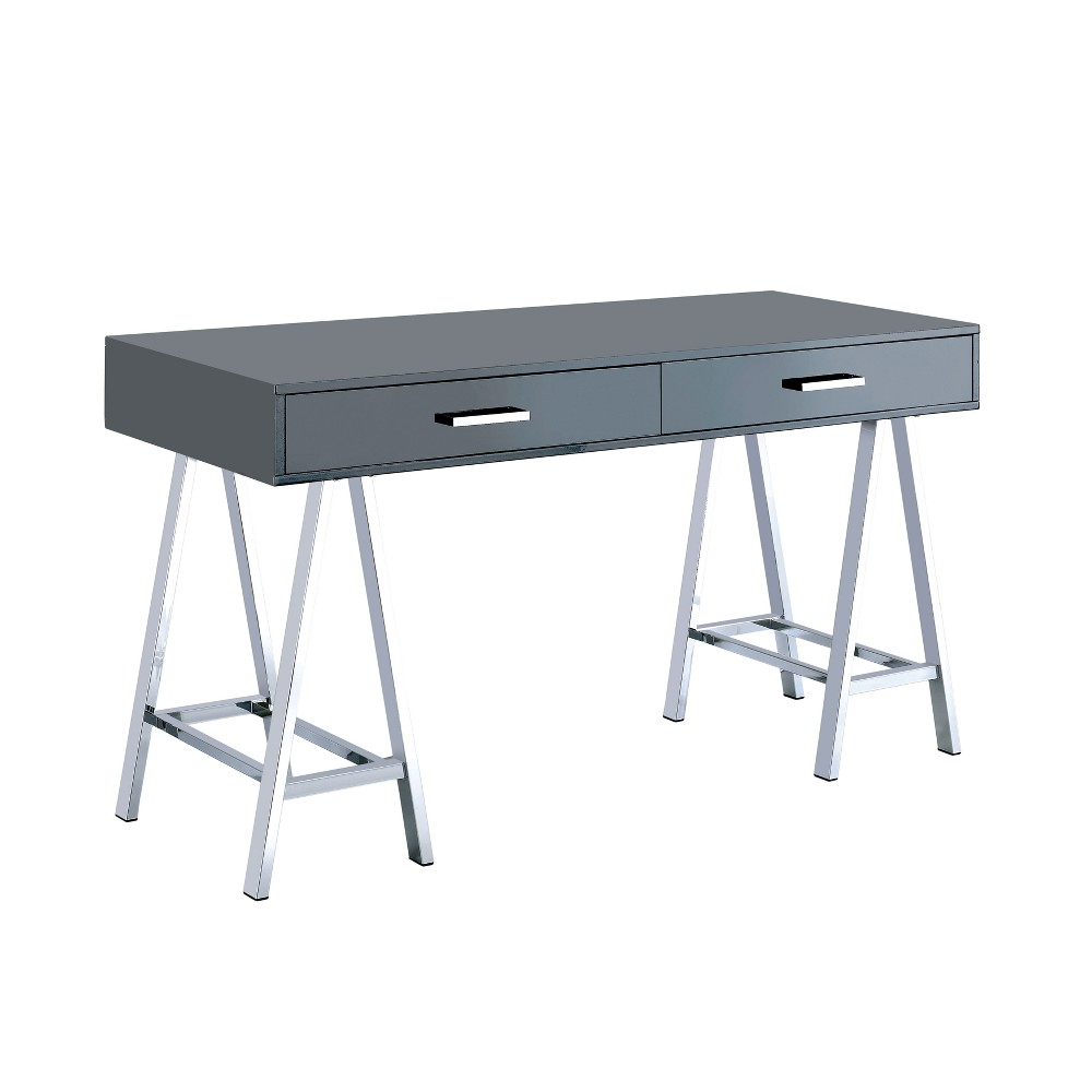 Aleman Contemporary Writing Desk Gray - Homes: Inside + Out