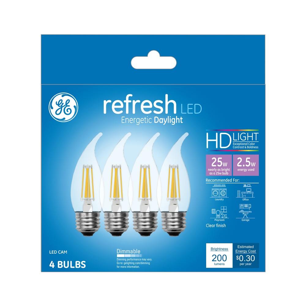 General Electric 4pk Refresh Led Light Bulb Dl Cam Clear