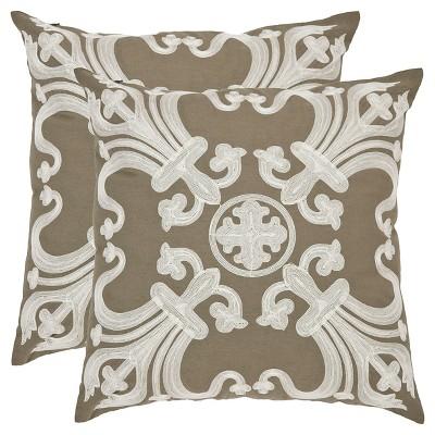 "Green Pillow Set Throw Pillow (22""x22"")- Safavieh"