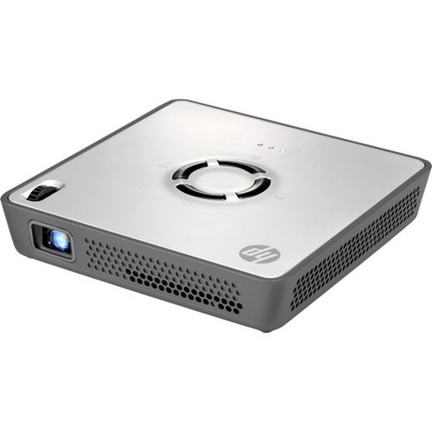 HP MP120 DLP Projector - Maximum Brightness of 120 Lumens - WVGA 854 x 480 Native Resolution - 1500:1 Dynamic Contrast Ratio - image 1 of 4