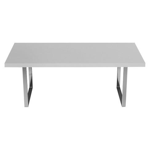 Brandon 2 63 Dining Table White And Chrome Aeon