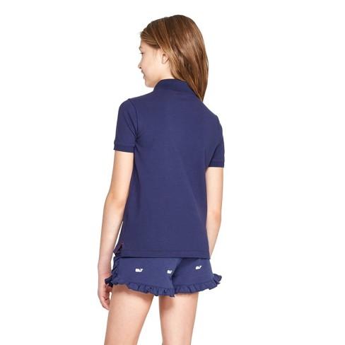 91da3782 Girls' Short Sleeve Polo Shirt - Navy - Vineyard Vines® For Target : Target