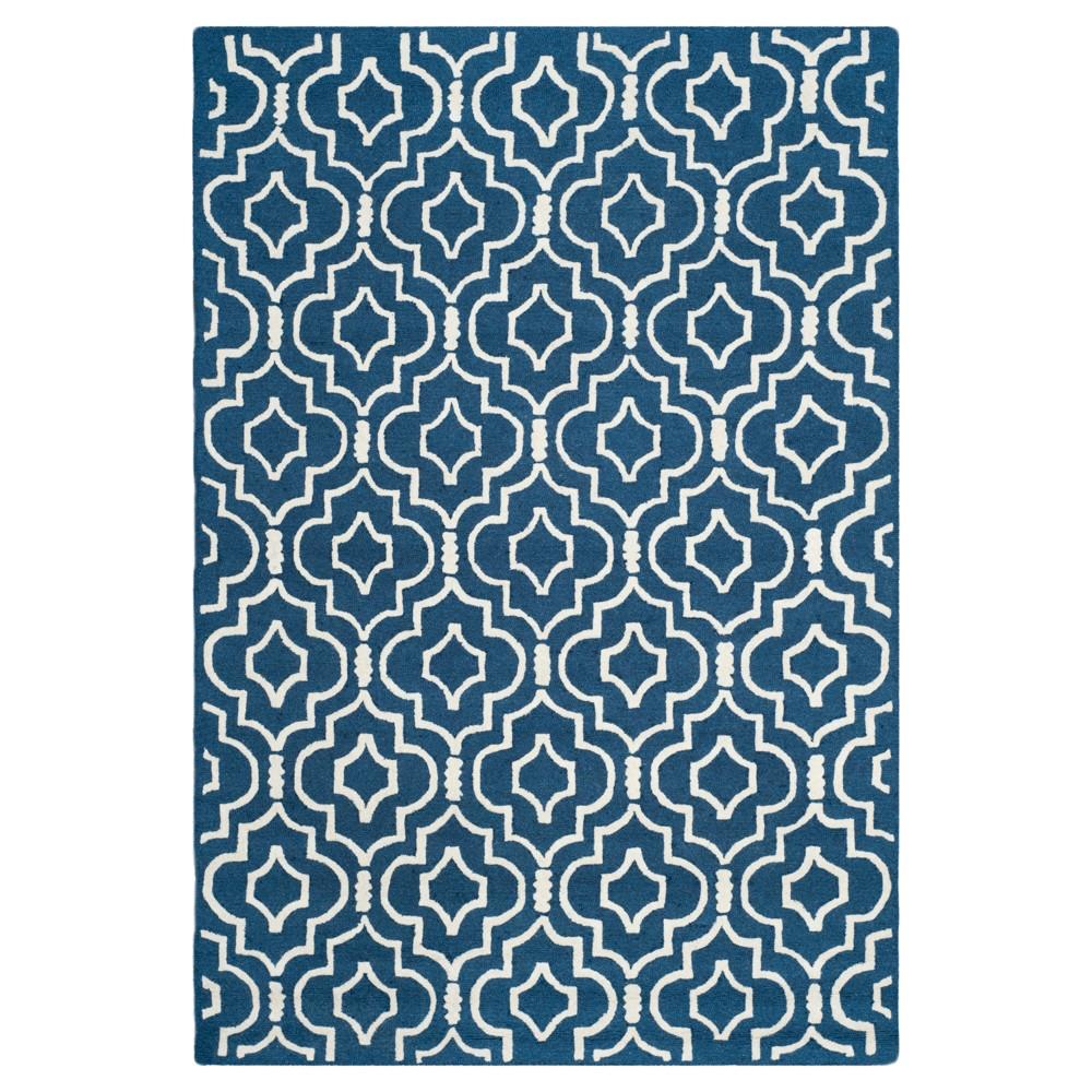 Tahla Area Rug - Navy Blue / Ivory ( 8' X 10' ) - Safavieh, Blue/Ivory