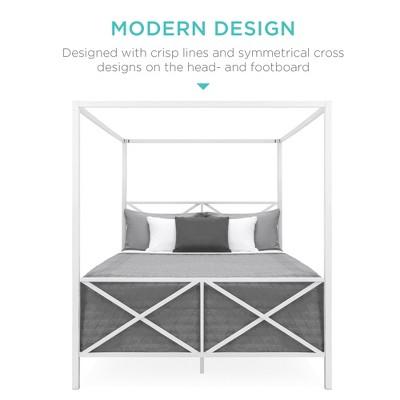 Bed Frames Mattress Foundations Target, Metal Bed Frame Queen Size With Vintage Headboard And Footboard Platform Base Wr