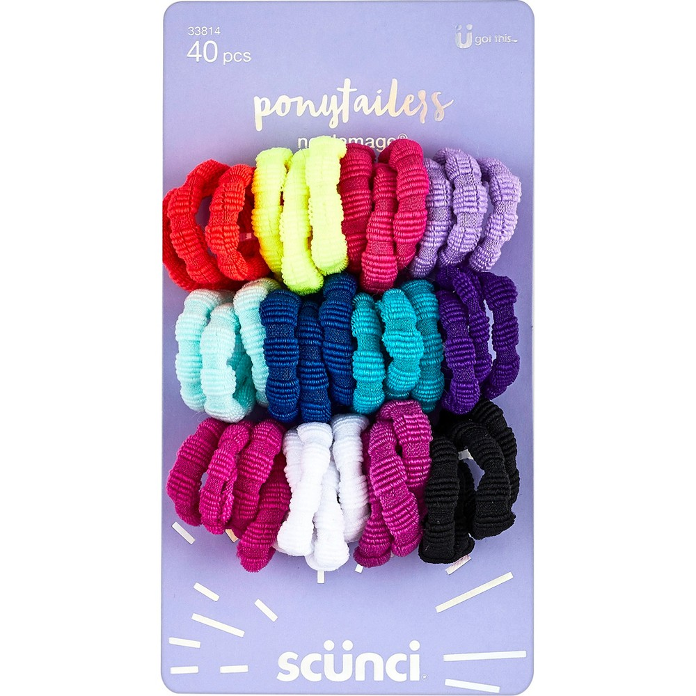 Scunci Ponytailers - 40pk, Multi-Colored