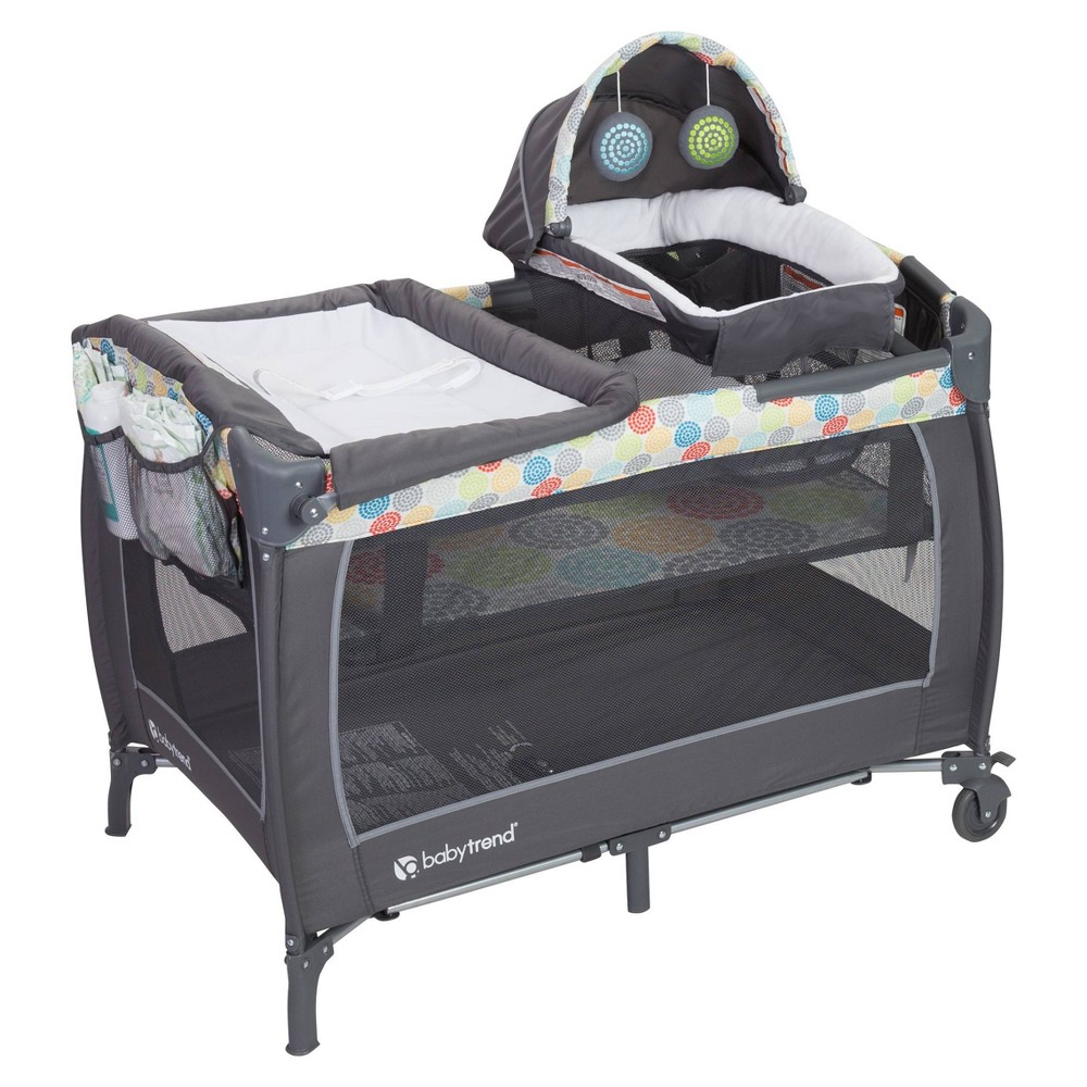 Image of Baby Trend Lil Snooze Deluxe II Nursery Center - Funfetti