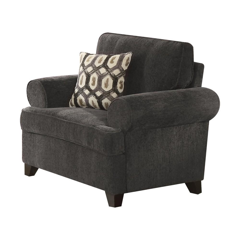 Acme Furniture Alessia Chair Dark Gray Acme Furniture Alessia Chair Dark Gray Gender: unisex.
