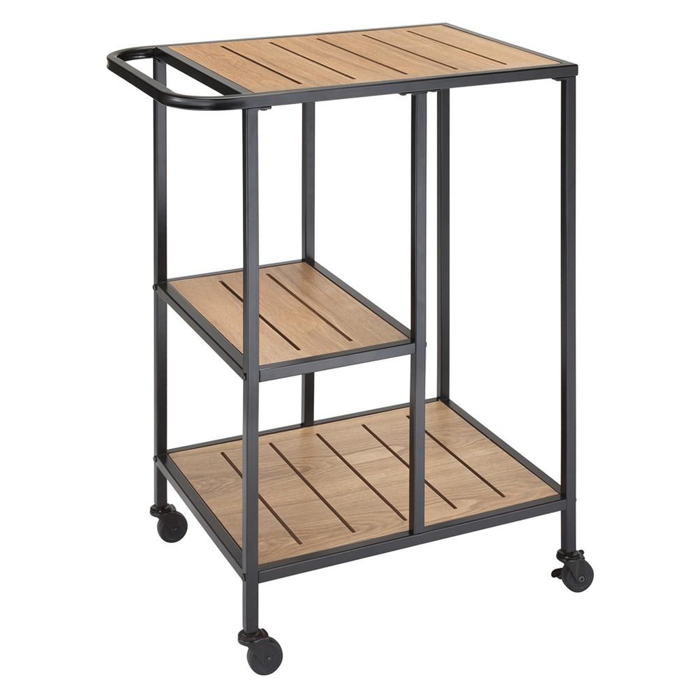 Image of Dandy Metal/Wood Cafe Cart Black - Jamesdar