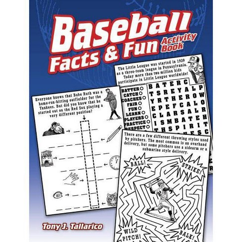 Baseball Facts & Fun Activity Book - (Dover Children's Activity Books) by  Tony J Tallarico (Paperback) - image 1 of 1
