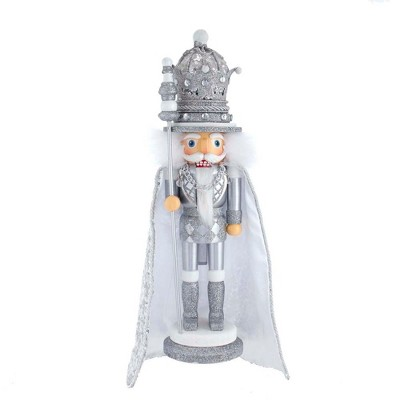 "Kurt Adler 17.5"" Hollywood Gold Silver Nutcracker"