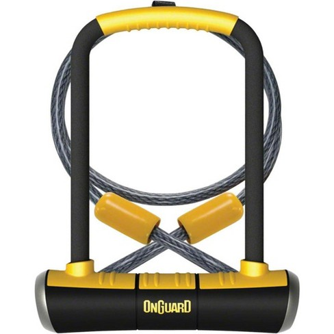 OnGuard PitBull Series U-Lock - 4.5 x 9 Keyed Black/Yellow Includes cable and - image 1 of 1