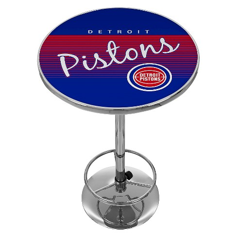 Detroit Pistons Hardwood Classics Chrome Pub Table - image 1 of 1