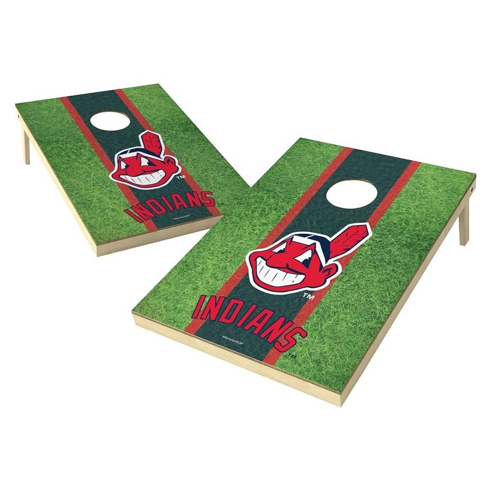 Cleveland Indians Wild Sports Field Shield Cornhole Bag Toss Set - 2x3 ft.