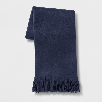 Cozy Solid Throw Blanket Blue - Threshold™