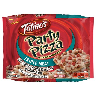 Totino's Triple Meat Party Frozen Pizza - 10.5oz