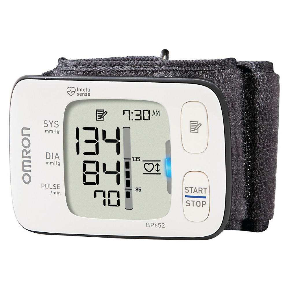 Omron Digital Wrist Blood Pressure Monitor - 7 Series, Adult Unisex, White