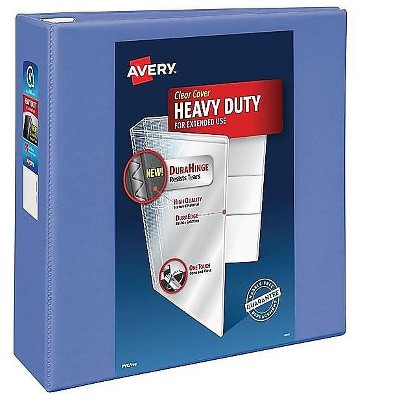 """Avery Heavy-Duty 4"""" 3-Ring View Binder Periwinkle (79329) 894677"""