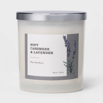 20oz Milky Glass Jar 3-Wick Candle Soft Cashmere & Lavender - Threshold™