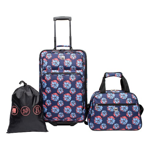 Skyline 3pc Luggage Set - Blue Floral - image 1 of 13