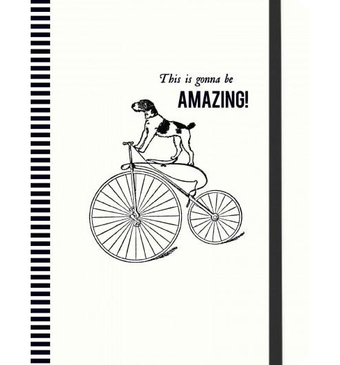 Vintage Prints Cycling Dog Gilded Journa (Notebook / blank book) - image 1 of 1