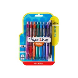 Paper Mate Inkjoy 8pk 300RT Retractable Ballpoint Pen Multicolor