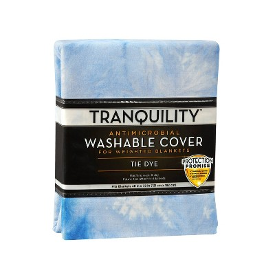 Washable Cover for Weighted Blanket Blue Tie Dye - Tranquility