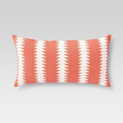 Orange Global Stripe Oversized Oblong Throw Pillow - Threshold™
