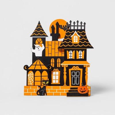 Mini Mantel Wood Haunted House Halloween Decorative Prop - Hyde & EEK! Boutique™
