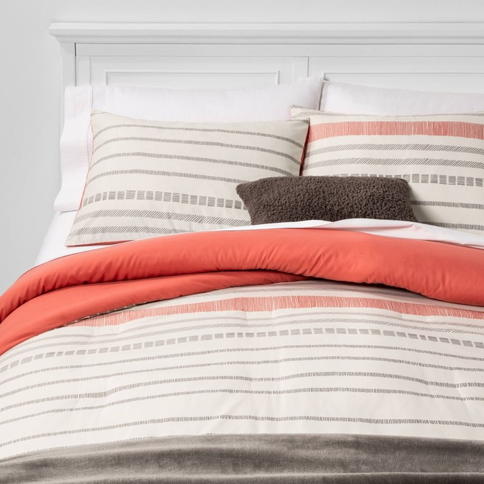 Dash Stripe Bed in a Bag Neutral - Room Essentials™ - image 1 of 4
