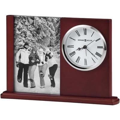 Howard Miller Portrait Caddy II Table Clock 645-780 - Satin Rosewood with Quartz Movement