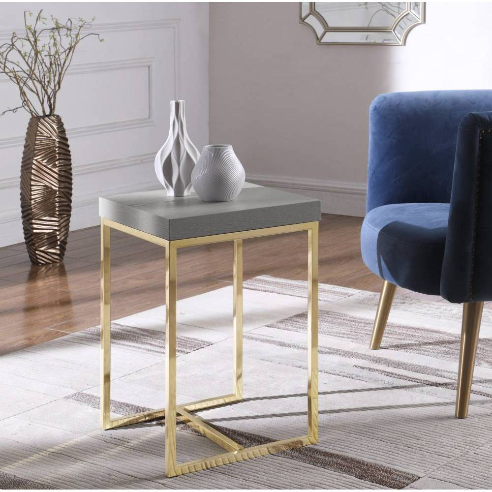 Lame Side Table Gray - Chic Home Design was $169.99 now $101.99 (40.0% off)