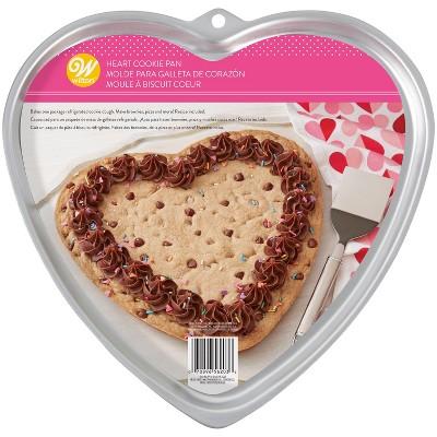 12.5  Aluminum Heart Cookie Pan - Wilton