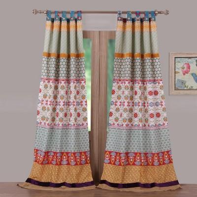 Barefoot Bungalow Thalia Window Curtain Panel - 42 x 84, Multicolored