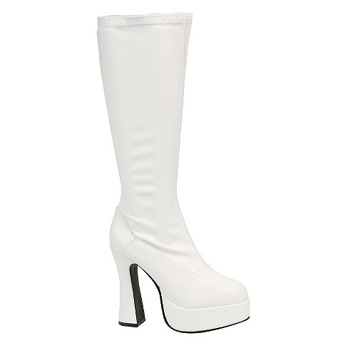 Halloween Women's ChaCha White Costume Boots - image 1 of 1
